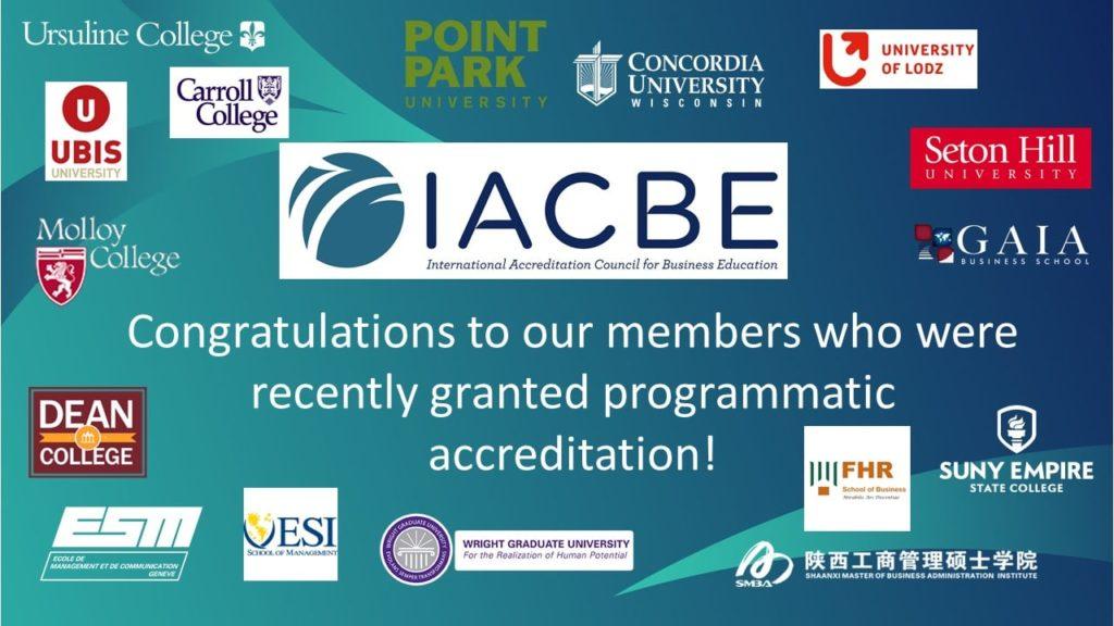 ESM - renouvellement accréditation IACBE